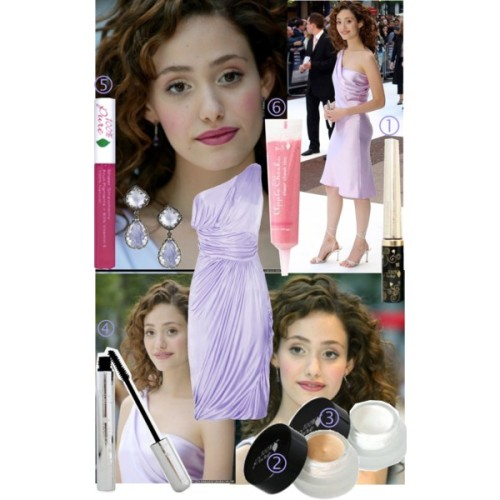 Emmy Rossum Makeup by angelicminx featuring topaz earrings