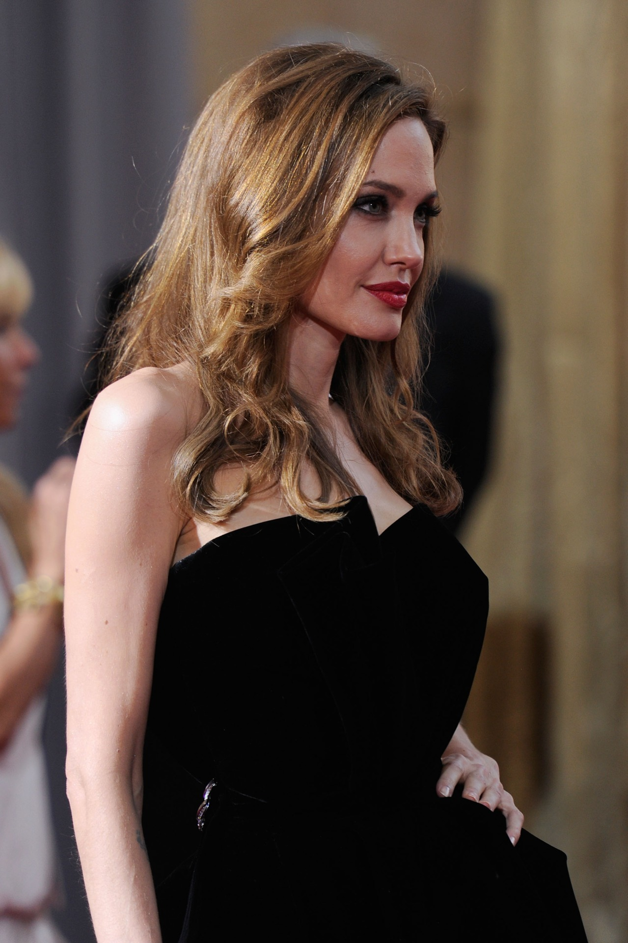 Angelina Jolie at the 2012 Oscars, February 26th Stunning, definitely one of my favorites from the night.