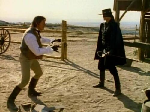 TV Show: Zorro Episode: Broken Heart, Broken Mask (Season 2, Episode 9) Air Date: 11/9/1990 Wrestler(s) captured: 'Rowdy' Roddy Piper (as Bishop) IMDB Page: Zorro - Broken Heart, Broken Mask