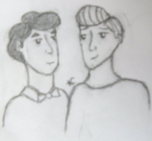 Kurt and Blaine Sketch