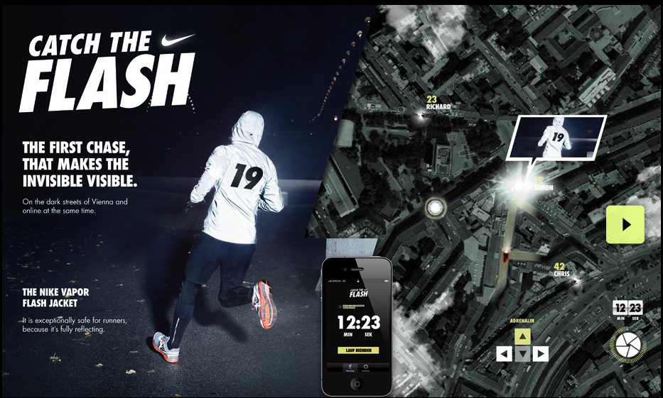 Catch the Flash pretty neat interactive campaign from Nike