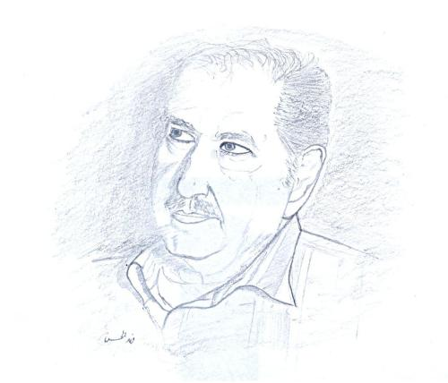 Drawing by Fahd El Hassan Khaled AlHassan (خالد الحسن) a.k.a Abu Said, is a Palestinian leader that words won't be enough to describe his love and dedication to his beloved home, Palestine. He was one of the '12 planets' that leaded Fatah (PLO), and he insisted on working politically and using media in order to introduce and define our cause to the world, who is blindly following the mainstream. In addition, he said that who accepts a part of his country do not deserve his country. He insisted on the Palestinian right to return. Rest In Peace Abu Said