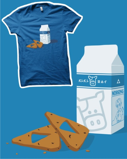 Today is the last day that you can score my Legend of Zelda 'Milk & Triforce Cookies' T-shirt design over at Threadless.com! so if you haven't given it a score yet it would be greatly appreciated if you could click on the image above and go and give it a 5 out of 5 :)