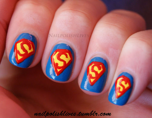 ~ Superman nail art :)