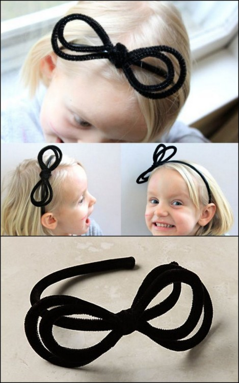 DIY Anthropologie Pipe Cleaner Headband. Photos: TOP DIY, BOTTOM Antrhopologie $38 Pipe Cleaner Headband here. Seriously simple and cheap tutorial from When Henry Happened here. *One jpeg download from site.