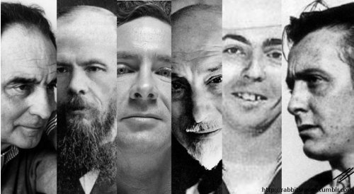 Italo CalvinoFëdor DostoevskijChuck Palahniuk Luigi Pirandello Thomas PynchonJohn Fante Photo created by rabbitsroom 27th February 2012