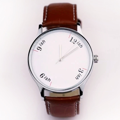 enochliew:  Indian Stretchable Time: The 'ish watch' by HYPHEN The product note states: In India, 'fashionably late' is safely replaced with 'predictably late'.