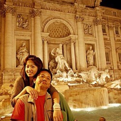 Monday: with him ~ Dad, Fontana dei Trevi #family#dad#picture#daddy#father#fountain#trevi#rome#roma#italy#europe#instagood#instagram#night#people#me#asian#filipino#nightshots#photography#follow#popular#famous#places (Taken with instagram)