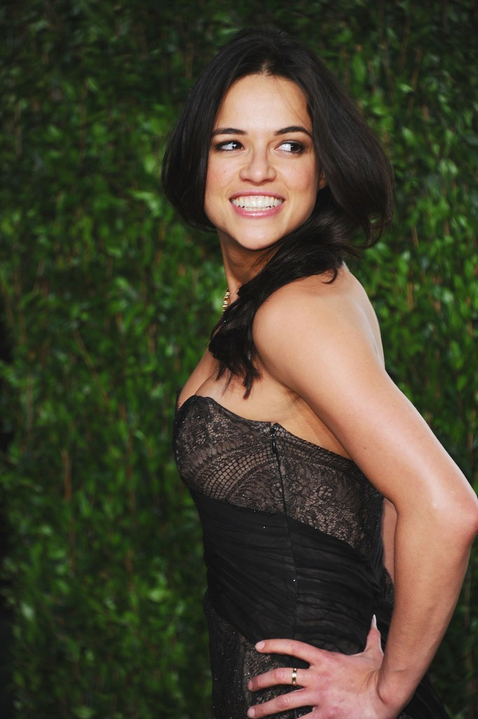 Michelle Rodriguez at the Vanity Fair Oscar Party, February 26th It's not a party unless MRod is there!