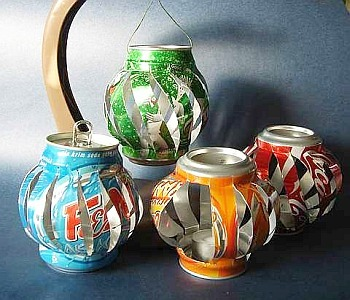 thingsrecycledusefully:  Make Soda Can Lanterns:Dollar Store Crafts This are so sweet.  You could string up a bunch on a string of lights, or just make a couple or tea lights.  I dig them though. via:  storagegeek