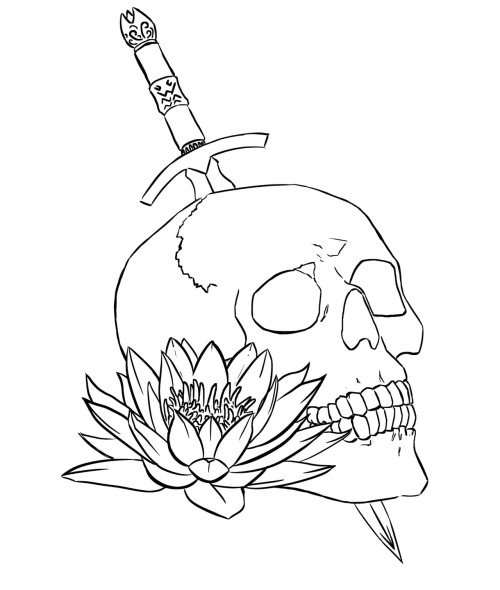 Inks to the skull picture.