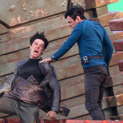 totalfilm:  Star Trek 2 on-set pics give first look at Benedict Cumberbatch's villain Star Trek 2 was an exciting prospect in itself, before it bagged one of the most exciting actors of the moment as its villain: yep, Sherlock's Benedict Cumberbatch…