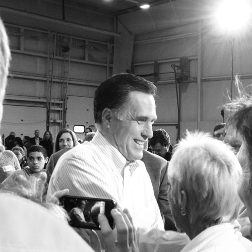 Mitt Romney in Rockford MI (Taken with instagram)