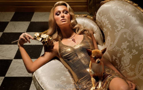 (via ru_glamour: Paris Hilton in Vanity Fair Spain January 2012)