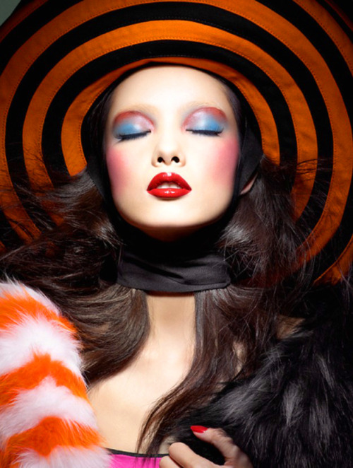 thecysight:  Sun Fei Fei by Raymond Meier for Vogue China (March 2011) Editorial: Color Kaleidoscope