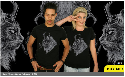 High Class Cat T-shirt available @ http://www.springleap.com/