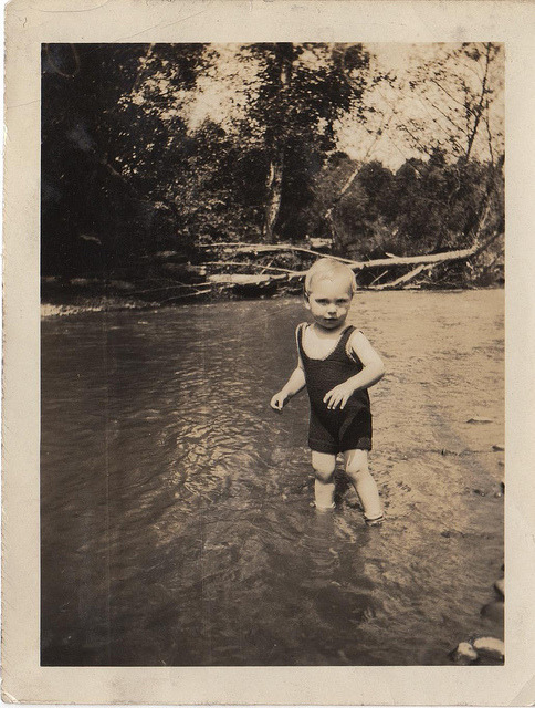 baedekersandbeasties:  baby in a river by lydiafairy on Flickr.