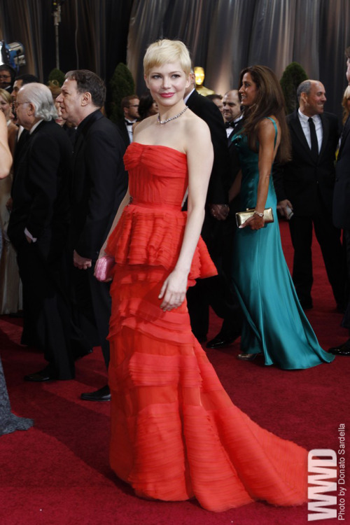 Red Carpet Report:Oscar Trends Michelle Williams in Louis Vuitton and Fred Leighton for Forevermark.