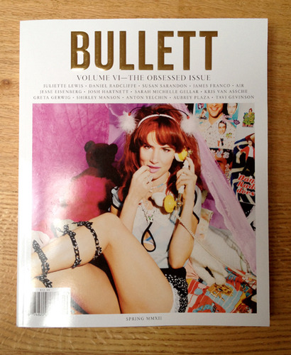 Image of the Day: redesign one of two new covers for BULLETT magazine by Townhouse Creative Nick Vogelson, featuring an onslaught of typography by Commercial Type. (Updated 02/29/12)