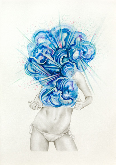 takingthebirdway:  black-tangled-heart:  James Roper Rapture mixed media on paper   think I blogged these a while back, oh well. (explosion)   This is sort of what my gender looks like…