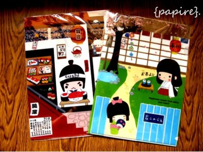 Japanese L shaped Folders Designs: Sushi Warrior | Sakura Girl  Type: File/Folder Dimension: 31 * 22cm Easily slot in your A4 documents for filing with these Japanese L Shaped Folders.  File those papers away easily!  Very limited quantity available. SGD$2.90 each Details:
