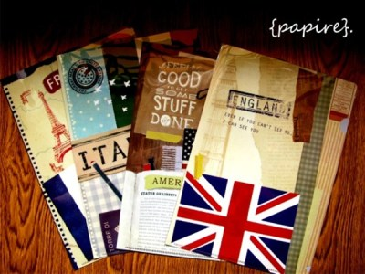 Vintage Country L shaped Folders Designs: France | Italy | America | England  Type: File/Folder Dimension: 31 * 22cm Easily slot in your A4 documents for filing with these L Shaped Folders.  File those papers away easily!  We <3 this series! Very limited quantity available. SGD$2.90 each Details: