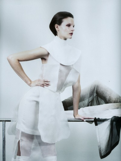 SARA BLOMQVIST features in the spring 2012 issue of Bon Magazine and photographed by Marcus Ohlsson and styled by Naomi Itkes