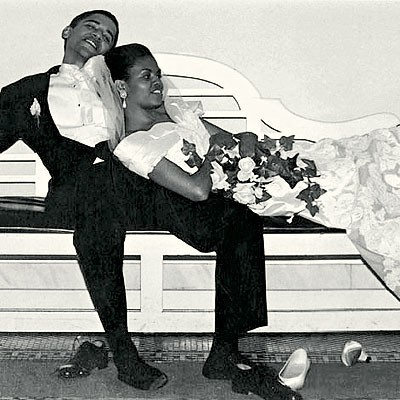 huffpoststyle:  Just because: Barack and Michelle Obama.
