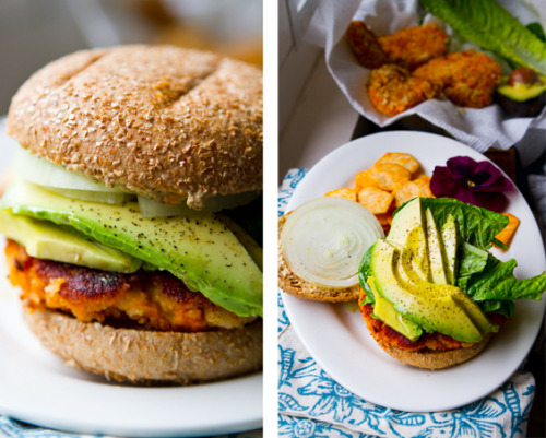 Sweet Potato Vegan burger! So yummyyy lookin :) find it here