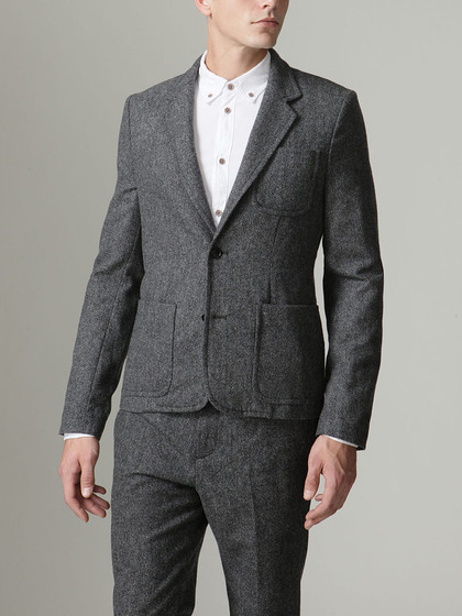 Tweedy suiting blazer by Marc by Marc Jacobs.  From $468 to $119 at www.giltman.com.  Sweet!