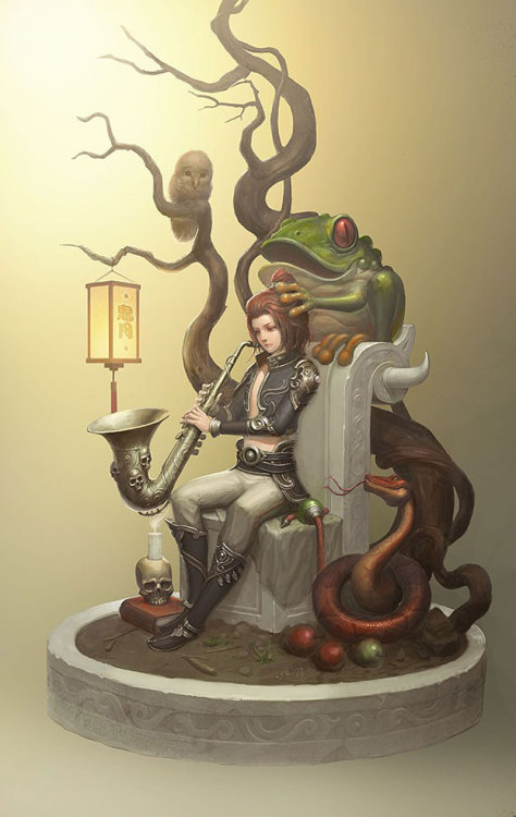 rawbdz:  The frog prince by Hongbo Li
