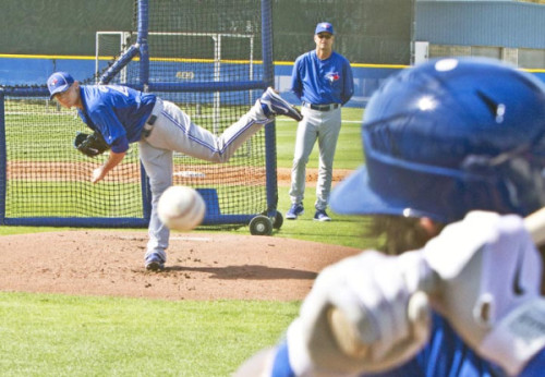 nationalpostsports:  Great photo from the Toronto Blue Jays' spring training by National Post baseball reporter John Lott.     Counting down the days!! It's almost that time of year :)