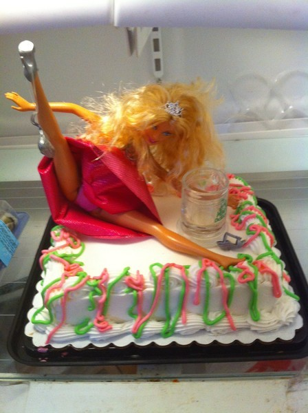 Hot Mess Barbie Cake. HAHAHAHA