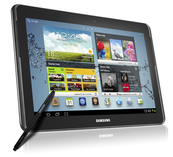 "Samsung announces Galaxy Note 10.1 with Android 4.0, dual-core chipset and S Pen  Samsung on Monday took the wraps off another new addition to its Android tablet lineup, the Galaxy Note 10.1. Like the supersized ""phablet""  it joins in the Galaxy Note family, the Note 10.1 includes Samsung's S  Pen stylus for drawing, note-taking, highlighting and much more. Sadly,  this still isn't the high-definition slate  we've been waiting for so it looks like Samsung is shooting to launch  its Retina-like tablet later this year. The 10-inch Galaxy Note runs  Samsung's TouchWiz UI atop Android 4.0 Ice Cream Sandwich and includes a  1.4GHz dual-core processor along with the same cameras found in the  original Galaxy Tab 10.1. In fact, the Note 10.1 essentially seems like a  redesigned Galaxy Tab 10.1 with an S Pen and a new processor, which is  peculiar since the Galaxy Tab 2 (10.1)  is pretty much a Galaxy Tab 10.1 as well. Announced alongside the  Galaxy Note 10.1 is the Galaxy S WiFi 4.2, a Wi-Fi-only device aimed at  gaming.  (more @ BGR)"