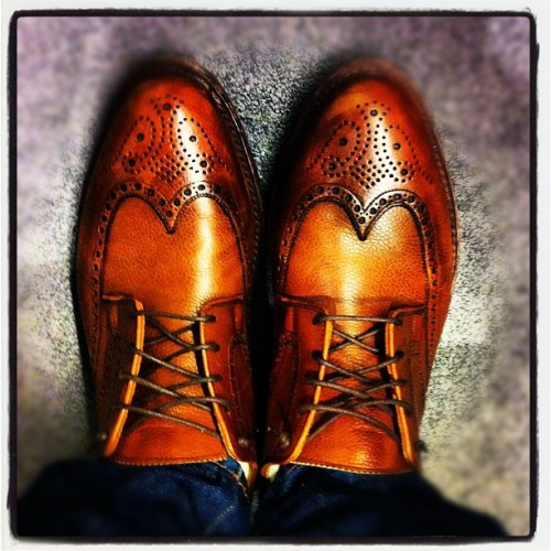 Crockett & Jones Wingtips (Taken with instagram)