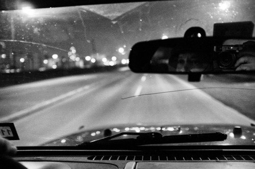 fujix100photos:  Late night driving to clear my head…self-portrait.02/23/2012