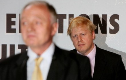 Boris evidently deep in introspective thought, wondering whether or not to tell Ken there's a something stuck to his back.