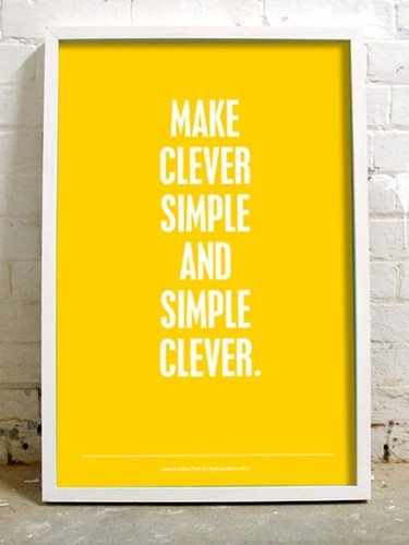 One of our core values: Simplify. Less is more.