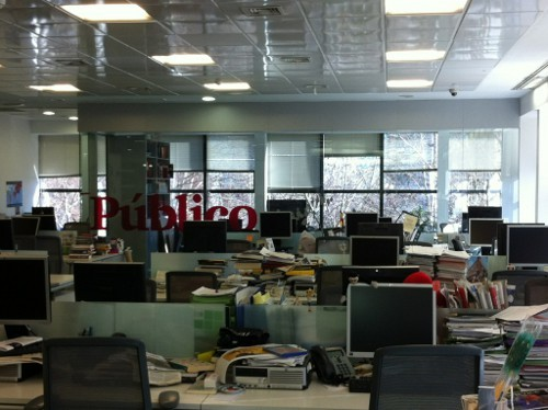 Público newsroom in Madrid. The spanish newspaper folded last week.