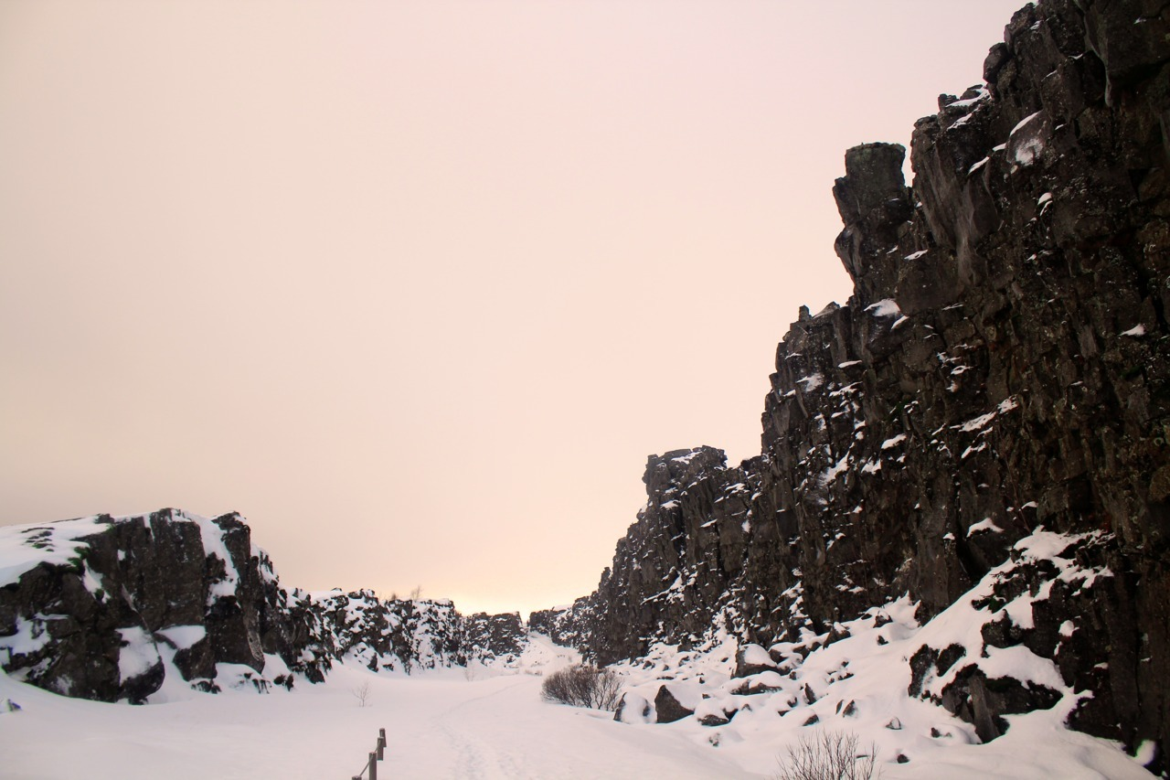 Thingvellir, Iceland* *The American and European Tectonic Plates meet