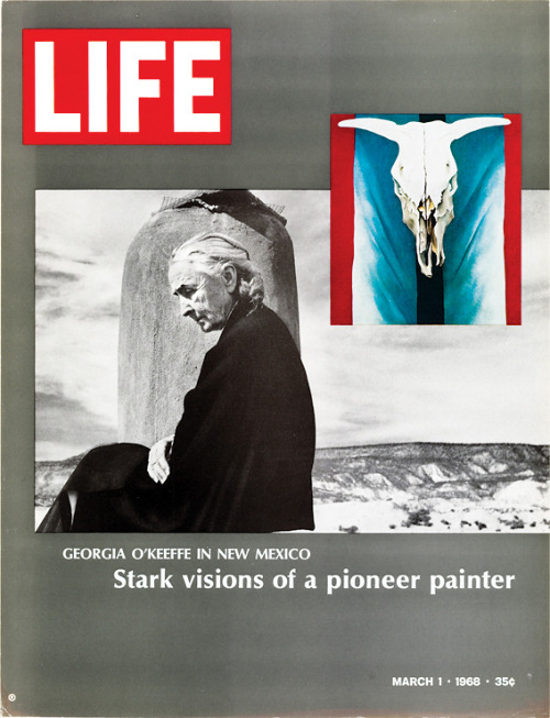 life:  On this day in LIFE Magazine… Georgia O'Keefe in New Mexico: Stark Visions of a Pioneer Painter (see related — LIFE Celebrates Art)