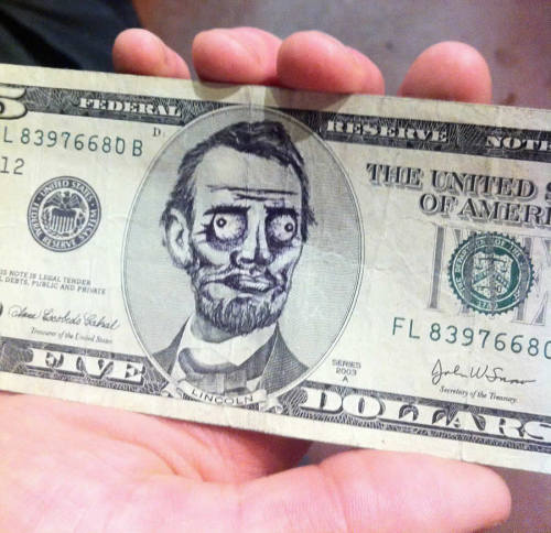 Abe is pleased with your purchase.