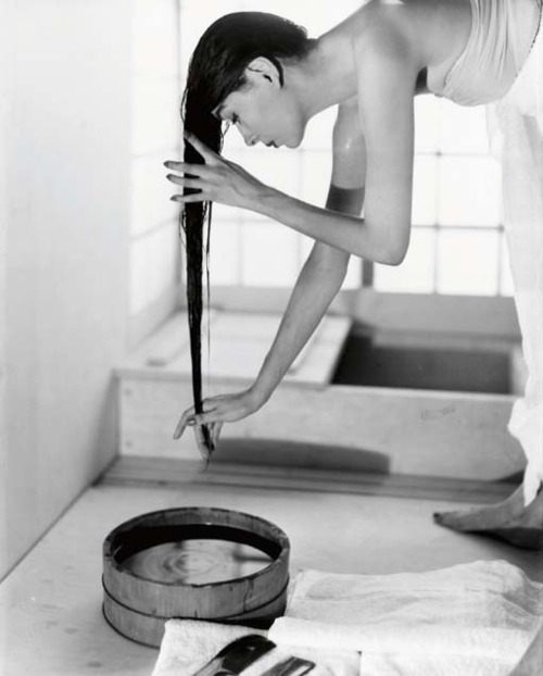 """Japanese Bath"",  by Louise Dahl-Wolfe, NY, 1954"