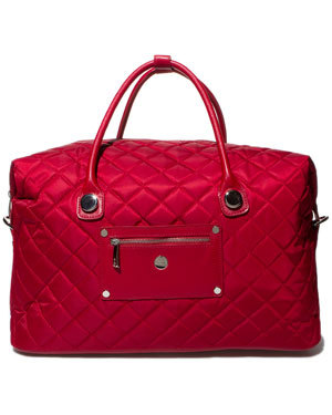 loving this red weekender duffel by knomo on ruelala today for $89.90