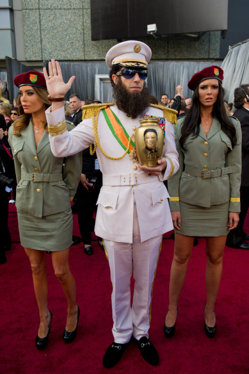 laughingsquid:  Sacha Baron Cohen's The Dictator at the 2012 Academy Awards