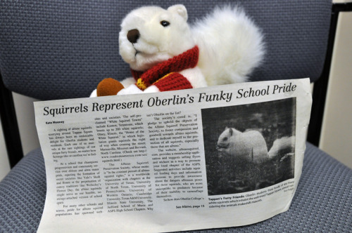 albusthesquirrel:  I didn't know my family was so famous! We are in the Oberlin Review.