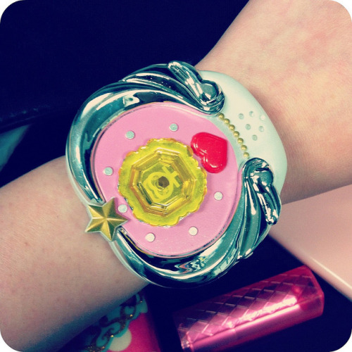 02.27.12 - daily watch: Pretty Guardian Sailor Moon jewelry star bracelet. Not a watch, but it resides with the rest of my watches, so yeah.