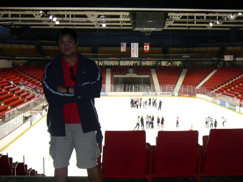 "The ""Miracle"" rink. This month was the anniversary of ""The Miracle on Ice"".  32 years ago, a group of under-dog college kids from the United States beat the superior Soviet Union in hockey at 1980 Lake Placid Winter Olympics.  This photo was taken back in 2008 at The Lake Placid Summit Lacrosse tournament.  I visit the rink each time I'm up there and wonder about such possibilities."