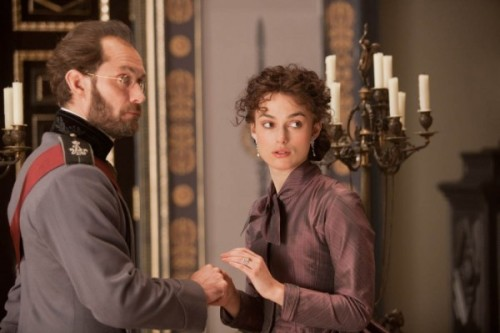 Yes, this is Keira Knightley playing Anna Karenina, with Jude Law cast as Alexei. The film arrives this fall with a screenplay by Tom Stoppard (that's good) and directed by Joe Wright (that's bad).