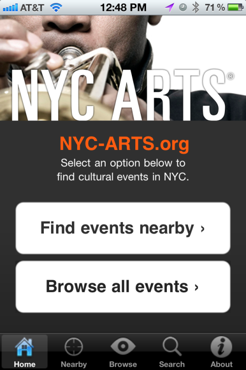 "nyc-arts:  NYC-ARTS has been nominated for About.Com's ""Best New York City App"". Will you please support arts groups in New York City by voting for the NYC-ARTS iPhone app?  Sign up for the weekly NYC-ARTS Top Five email and/or download the app on NYC-ARTS.org."